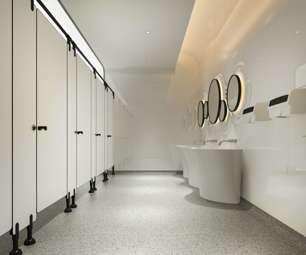 bathroom commercial cleaning job